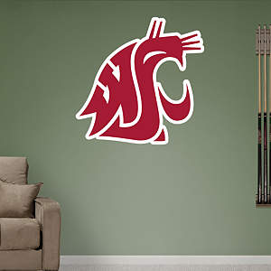 Washington State Cougars Logo Fathead Wall Decal