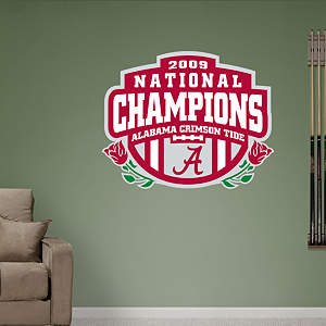 Alabama Crimson Tide BCS Champions Logo Fathead Wall Decal