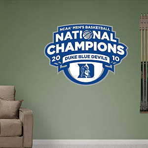 Duke 2010 NCAA Men's Basketball National Champions Logo Fathead Wall Decal
