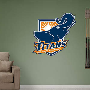 Cal State Fullerton Titans Shield Logo Fathead Wall Decal