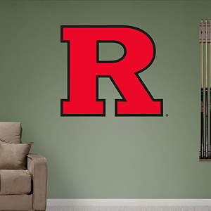 "Rutgers Scarlet Knights ""Block R"" Logo Fathead Wall Decal"