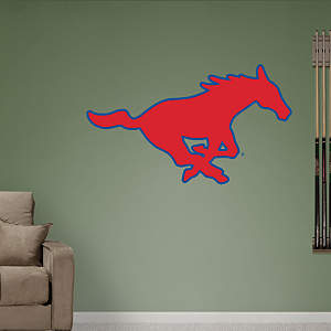 SMU Mustangs Logo Fathead Wall Decal