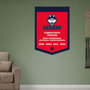 UConn Huskies Men's Basketball Championships Banner Fathead Wall Decal