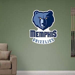 Memphis Grizzlies Alternate Logo Fathead Wall Decal