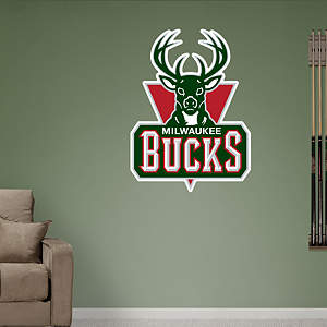 Milwaukee Bucks Logo Fathead Wall Decal