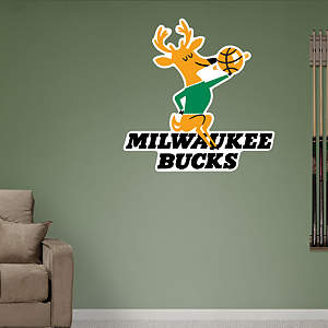 Milwaukee Bucks Classic Logo Fathead Wall Decal