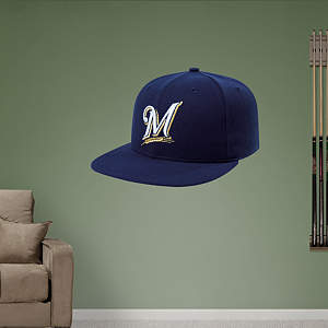 Milwaukee Brewers Cap Fathead Wall Decal