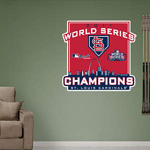 St. Louis Cardinals 2011 World Series Champions Logo Fathead Wall Decal