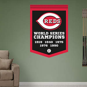Cincinnati Reds World Series Champions Banner Fathead Wall Decal