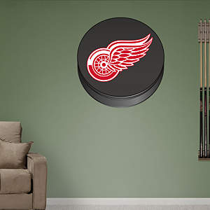 Detroit Red Wings Puck Logo Fathead Wall Decal