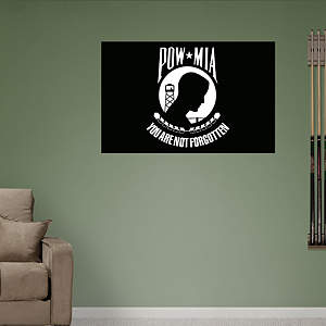 POW MIA Awareness Logo Fathead Wall Decal