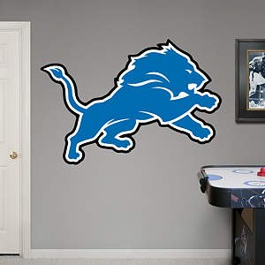 Detroit Lions Logo Fathead Wall Decal