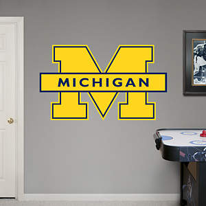 Michigan Wolverines Maize Logo Fathead Wall Decal