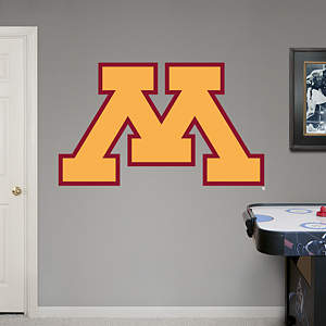 Minnesota Golden Gophers Logo Fathead Wall Decal