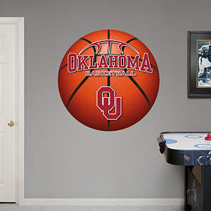 Oklahoma Sooners Basketball Logo Fathead Wall Decal