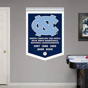 North Carolina Tar Heels Men's Basketball National Championships Banner Fathead Wall Decal