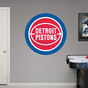 Detroit Pistons Classic Logo Fathead Wall Decal