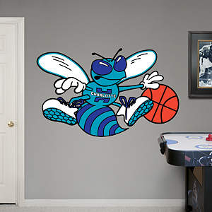Charlotte Hornets Classic Logo Fathead Wall Decal