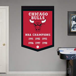 Chicago Bulls NBA Champions Banner Fathead Wall Decal