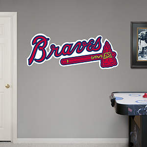 Atlanta Braves Logo Fathead Wall Decal