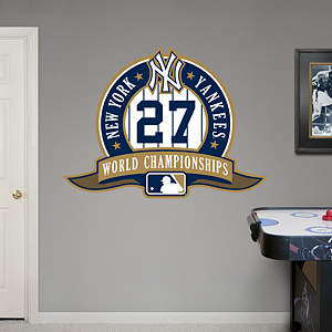 New York Yankees 27th World Series Logo Fathead Wall Decal