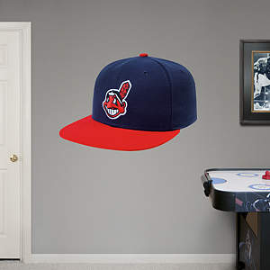 Cleveland Indians Cap Fathead Wall Decal