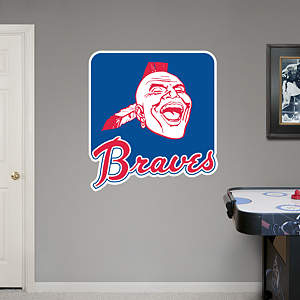 Atlanta Braves Classic Logo Fathead Wall Decal