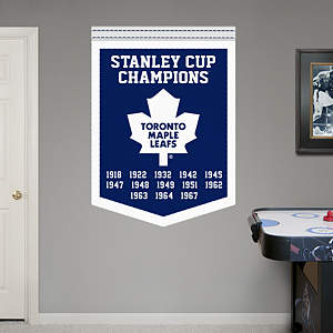 Toronto Maple Leafs Stanley Cup Champions Banner Fathead Wall Decal