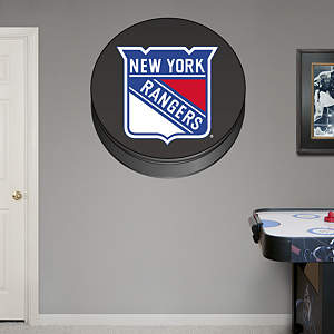 New York Rangers Puck Logo Fathead Wall Decal