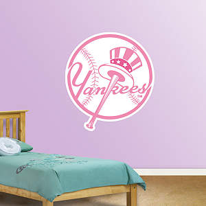 New York Yankees Pink Logo Fathead Wall Decal