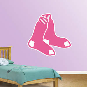 Boston Red Sox Pink Logo Fathead Wall Decal