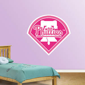 Philadelphia Phillies Pink Logo Fathead Wall Decal