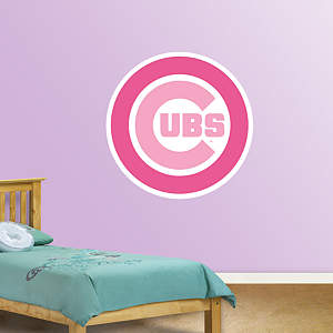 Chicago Cubs Pink Logo Fathead Wall Decal