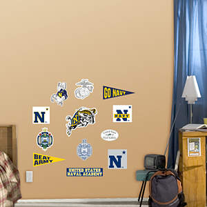 U.S. Naval Academy - Team Logo Assortment Fathead Wall Decal