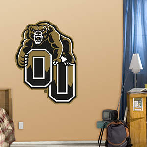 Oakland Golden Grizzlies Logo Fathead Wall Decal