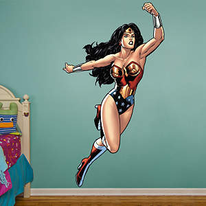 Wonder Woman in Action  Fathead Wall Decal