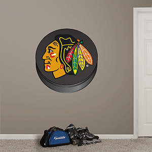 Chicago Blackhawks Puck Logo Fathead Wall Decal