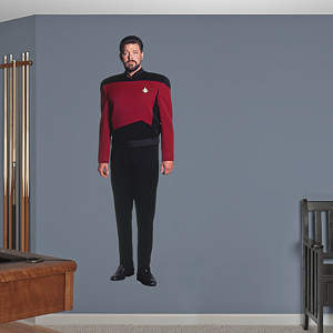 Commander William T. Riker Fathead Wall Decal