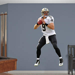Drew Brees - No. 9 Fathead Wall Decal