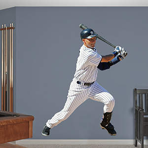 Derek Jeter - Swings Away Fathead Wall Decal