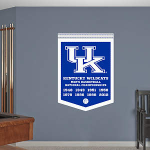 Kentucky Wildcats Men's Basketball National Championships Banner Fathead Wall Decal