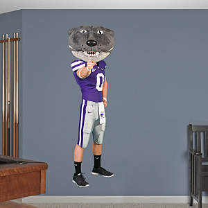 Kansas State Mascot: Willie the Wildcat Fathead Wall Decal