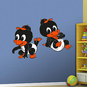 Baltimore Orioles Mascot - Rookie League Fathead Wall Decal