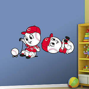 Cincinnati Reds Mascot - Rookie League Fathead Wall Decal