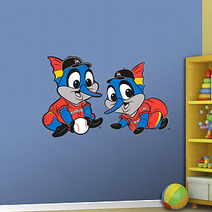 Miami Marlins Baby Mascot Fathead Wall Decal