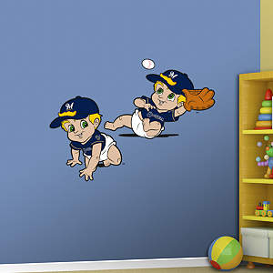 Milwaukee Brewers Baby Mascot Fathead Wall Decal