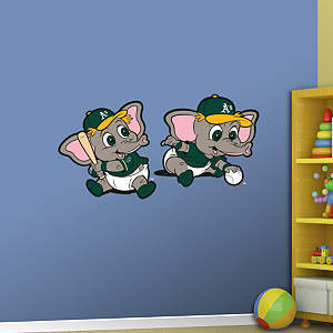 Oakland Athletics Baby Mascot Fathead Wall Decal