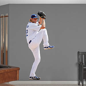 Vinyl Mural Wall Decal of Clayton Kershaw