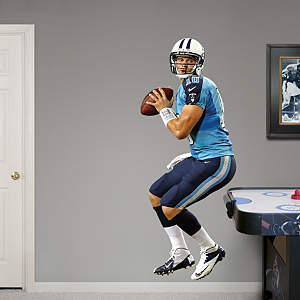 Jake Locker - Looking Down Field  Fathead Wall Decal