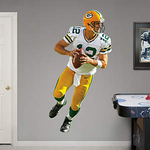 Aaron Rodgers - Looking Down Field Fathead Wall Decal
